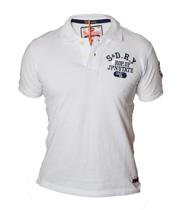 "Superdry Men's ""The Classic Polo"" Golfer In White"