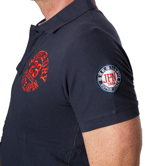 "Superdry Men's ""The Classic Polo"" Golfer In Navy - Labels4Less"