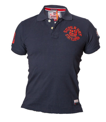 "Superdry Men's ""The Classic Polo"" Golfer In Navy"