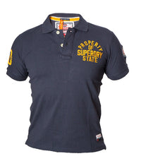 "Superdry Men's ""The Classic Polo"" Golfer In Navy Blue - Labels4Less"