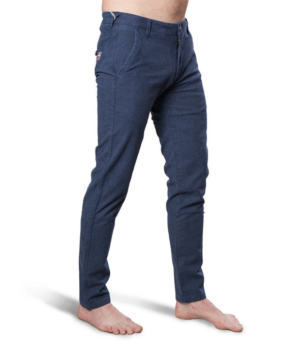 Superdry Men's Slim Fit Chinos In Navy Blue - Labels4Less