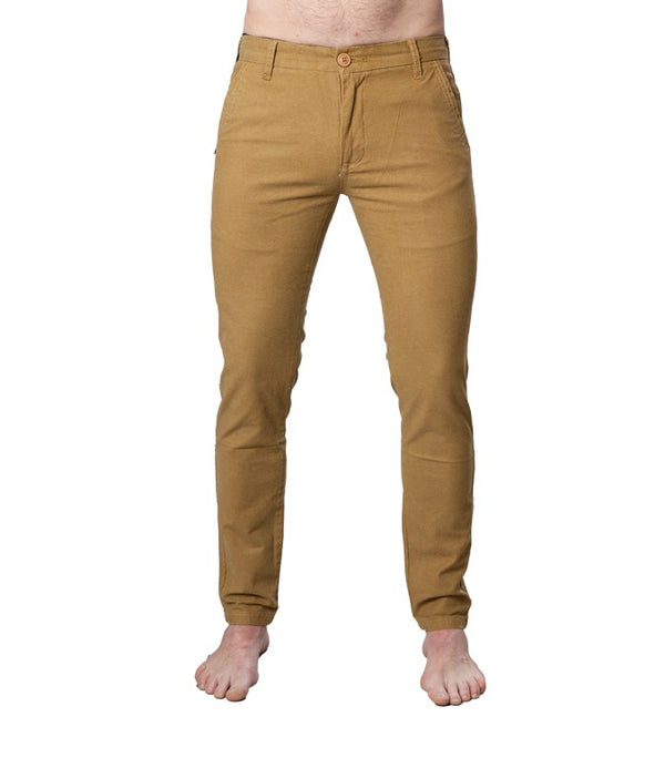 Superdry Men's Slim Fit Chinos In Khaki - Labels4Less