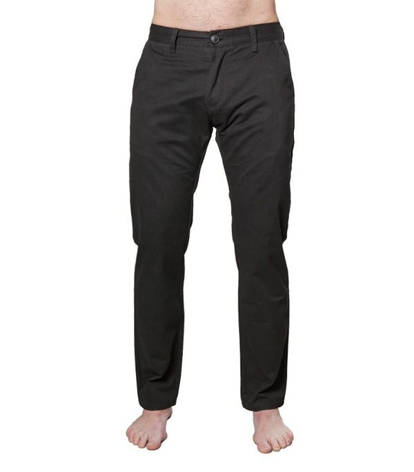 Superdry Men's City Slim Chinos In Black - Labels4Less