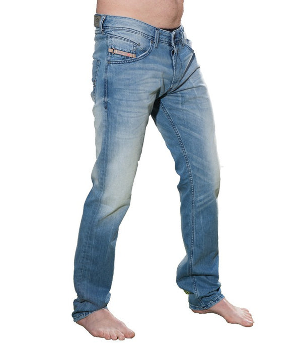 Diesel Men's Belther Wash 0830Z Regular Fit Jeans - Labels4Less