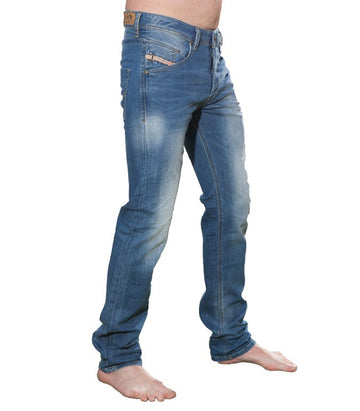 Diesel Men's Belther Wash 0833V Stretch Tapered Jeans