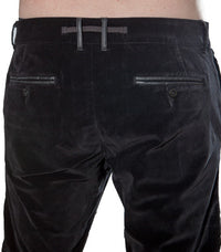 Diesel Pedang black velvet trouser - Labels4Less