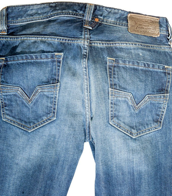 Diesel Men's Larkee 0801Z Straight Leg Jeans - Labels4Less