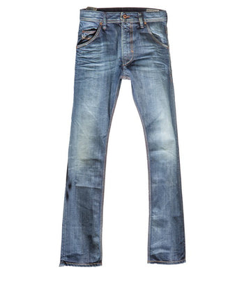 Diesel Men's Krooley Relaxed Wide Leg Jeans