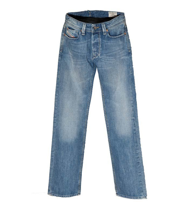 Diesel Men's Larkee 008AT Straight Leg Jeans In Blue - Labels4Less