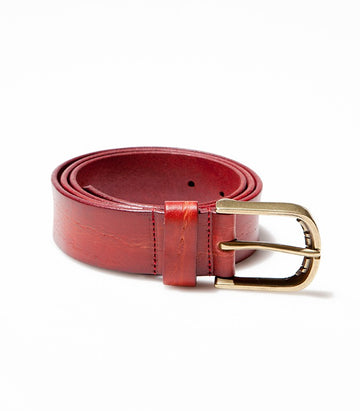 Diesel Red Leather Belt BE2089