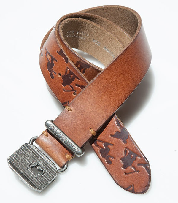 Diesel Men's Leather Belt BE1306 In Brown - Labels4Less