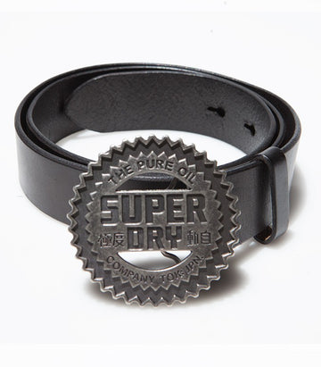 "Superdry Men's ""The Pure Oil"" Leather Belt"