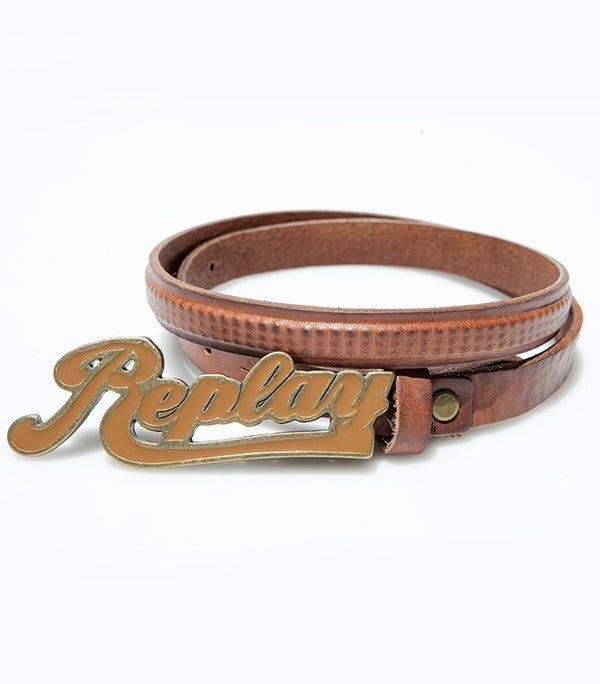 Replay Leather Brown Belt BE1015 - Labels4Less