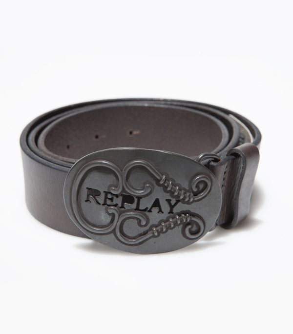 Replay Leather Grey Belt BE1601 - Labels4Less