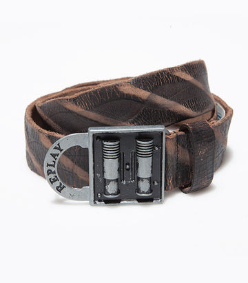 Replay Leather Black Belt BE2097