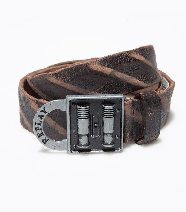 Replay Leather Black Belt BE2097 - Labels4Less