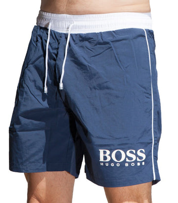 Hugo Boss Men's BK-02 Boardshorts In Blue
