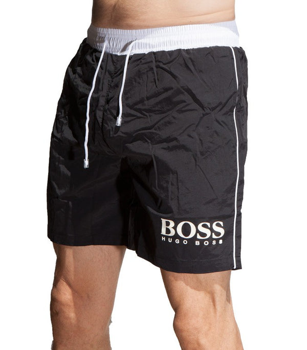 Hugo Boss Men's BK-02 Boardshorts In Black - Labels4Less