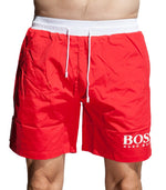 Hugo Boss Men's BK-02 Boardshorts In Red - Labels4Less