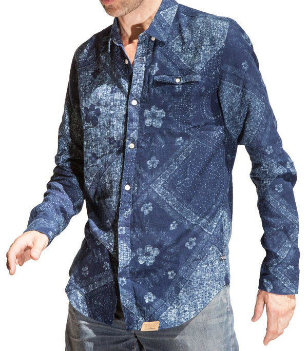 Scotch & Soda Men Indigo Juice Shirt - Labels4Less