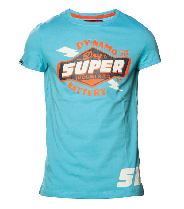 Superdry Men's Reworked Classic T-shirt In Blue - Labels4Less