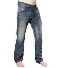 Diesel Men's Waykee 0818D Jeans In Blue - Labels4Less