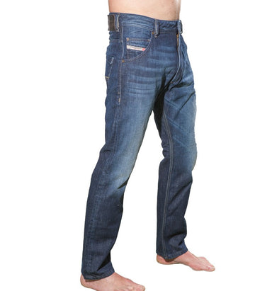 Diesel Men's Krooley Wash Regular Fit Jeans
