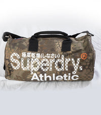 Superdry Athletic Barrel Bag In Army Green - Labels4Less