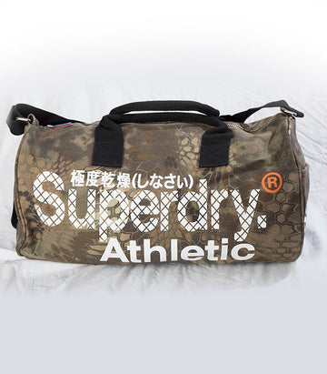 Superdry Athletic Barrel Bag In Army Green