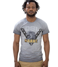 Diesel Men's Brave Eagle T-shirt In Grey - Labels4Less