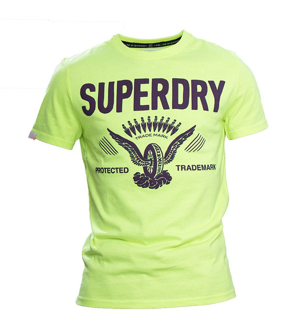 Superdry Men's Trade Mark T-shirt In Green - Labels4Less