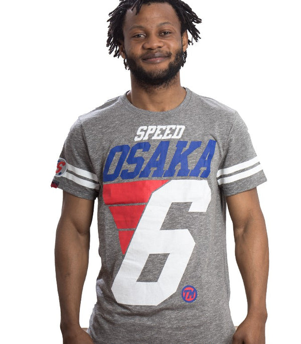 Superdry Men's Speed Osaka T-shirt In Charcoal Grey - Labels4Less