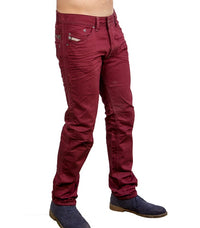 1585c83e Diesel Men's Darron Slim-Tapered Fit Jeans In Burgundy - Labels4Less