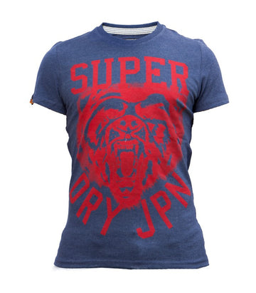 Superdry Men's Tiger T-shirt In Dark Blue