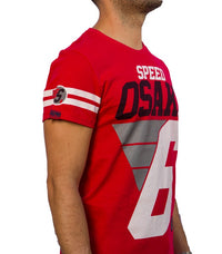 Superdry Men's Speed Osaka T-shirt In Red - Labels4Less