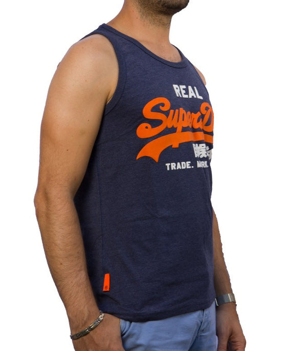Superdry Men's Real Vest In Navy - Labels4Less