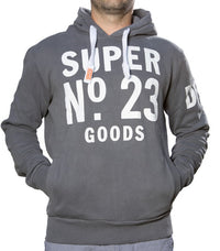 Superdry Men's No.23 Goods Hoodie In Grey - Labels4Less