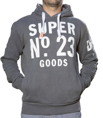 Superdry Men's No.23 Goods Hoodie In Grey