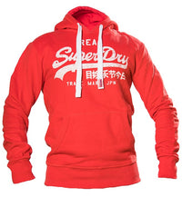 Superdry Men's Real Hoodie In Red - Labels4Less