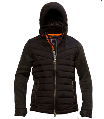 Superdry Men's Hybrid Puffer Jacket In Black