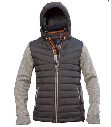 Superdry Men's Hybrid Puffer Jacket In Grey