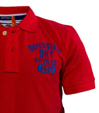 "Superdry Men's ""The Classic Polo"" Golfer In Dark Red - Labels4Less"