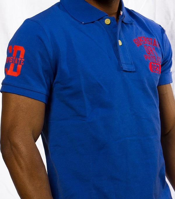 "Superdry Men's ""The Classic Polo"" Golfer In Dark Blue - Labels4Less"