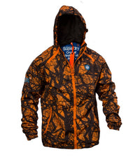 Superdry Men's Sport Light Jacket Camo In Orange - Labels4Less