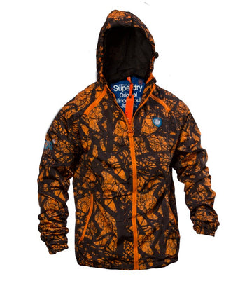 Superdry Men's Sport Light Jacket Camo In Orange