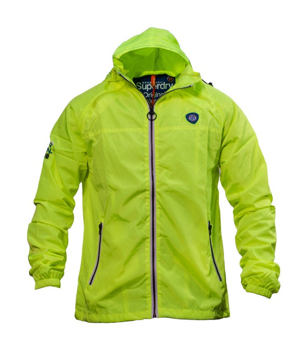 Superdry Men's Sports Hooded Cagoule In Yellow - Labels4Less