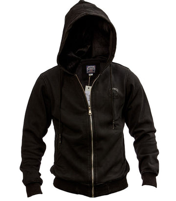 Diesel men zip Hoodie washed black