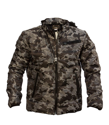 Diesel Men Jacket Camo Black & Grey