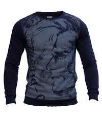 Diesel Men's Crew Neck Sweater In Blue - Labels4Less
