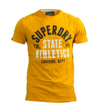 Superdry Men's State 54 T-shirt in Mustard - Labels4Less